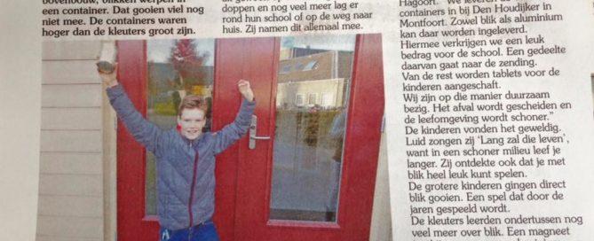 Timotheusschool uit Linschoten blikjes